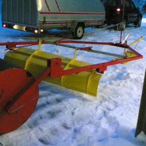 Premiär för rullsladden i snö