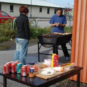 Maria och Linda fixade lunchen till de hungriga arbetarna