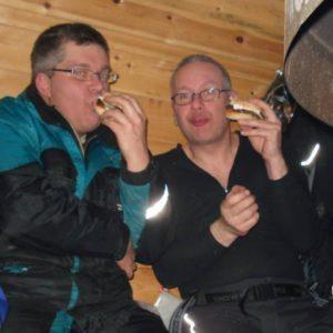 Våra ledmästare från Pengsjö-trakten nöjde sig inte med grillkorv, hamburgare med allt på skulle det vara!