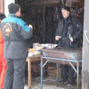 Många tog en hamburgare som aptitretare inför pizzan